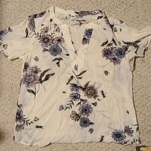 NWT floral print top